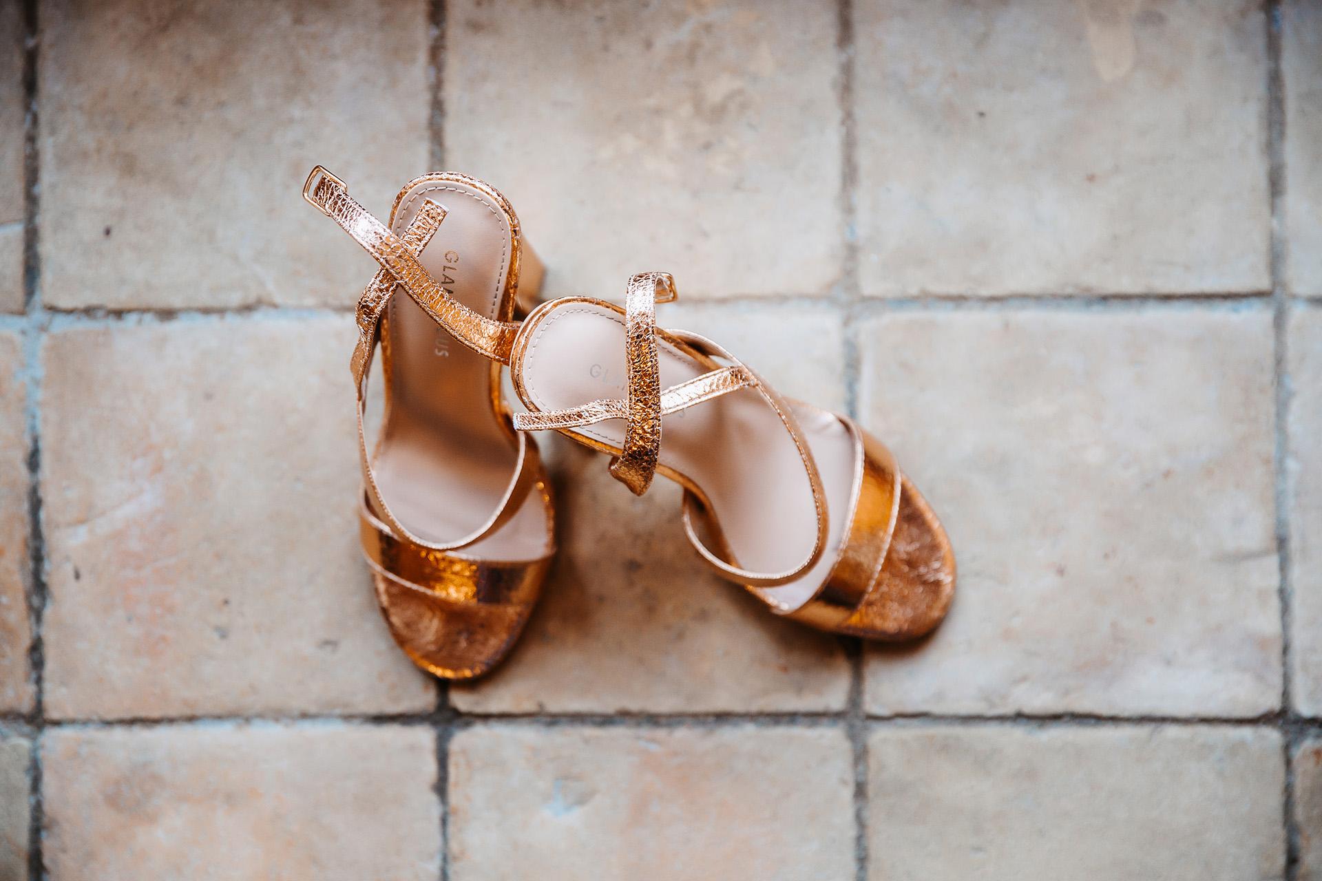 les chaussures de la marié