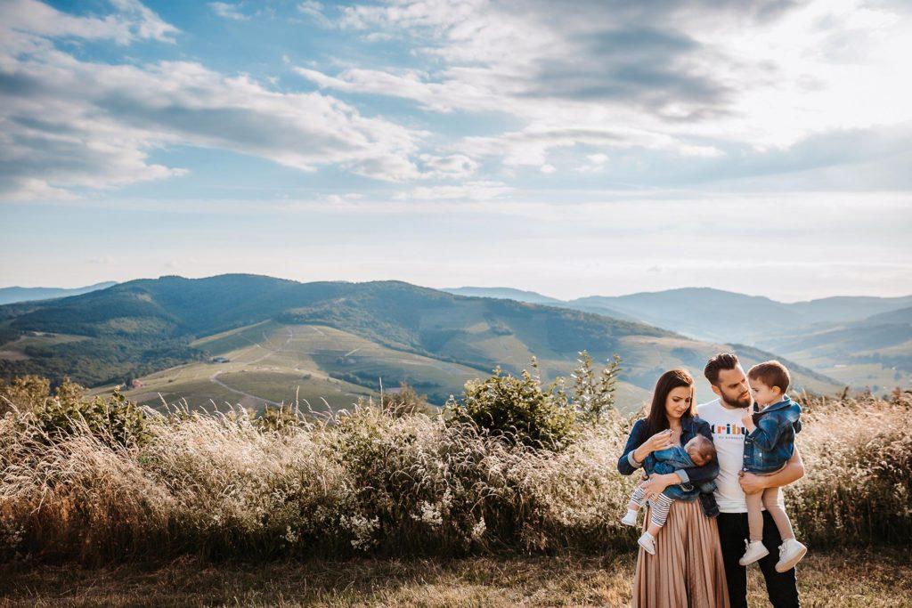 mont brouilly photo de famille